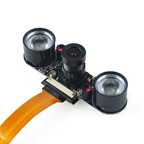 MakerFocus Raspberry Pi Zero Kamera Nachtsichtkamera Einstellbares Fokus-Modul 5MP OV5647 Webcam Video 1080p Kompatibel mit Raspberry Zero W
