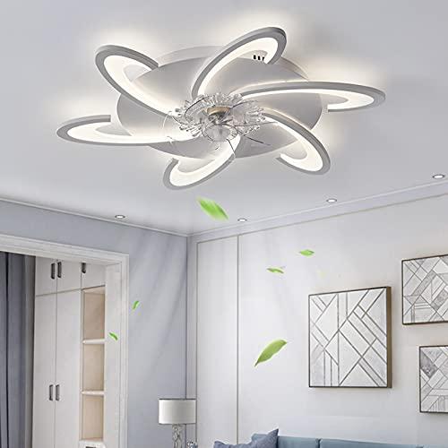 ACCZ Ventilador De Techo, Ventilador Techo con Control Remoto Y De Aplicación, Ventiladores De Techo Regulables para Interiores con Luz, Velocidad del Viento Ajustable, 3000k-6500K, 60W