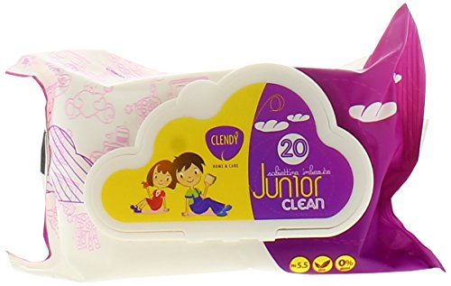 Clendy Salviette Junior con tappo, 20 pezzi