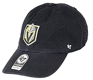 '47 NHL Las Vegas Golden Knights Clean Up Adjustable Hat, One Size, Black from 47Brand Replen Code