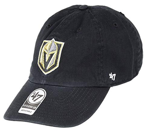 '47 NHL Las Vegas Golden Knights Clean Up Adjustable Hat, One Size, Black
