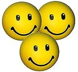 Stressballs 3 x Gelbe – Stress Ball - Antistressball ,Knautschball – Kleiner Ball, Grosse Stresserleichterung