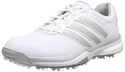 adidas Damen Adipower Boost 2 Golfschuhe, Weiß (White/Matte Silver/Dark Silver Metallic), 38 EU