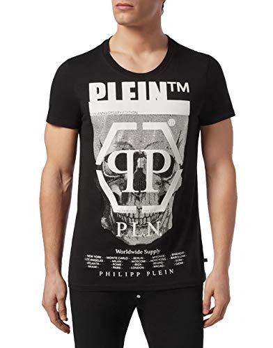 Philipp Plein T-Shirt Rundhals Totenkopf MTK3555 Gr. L, Schwarz