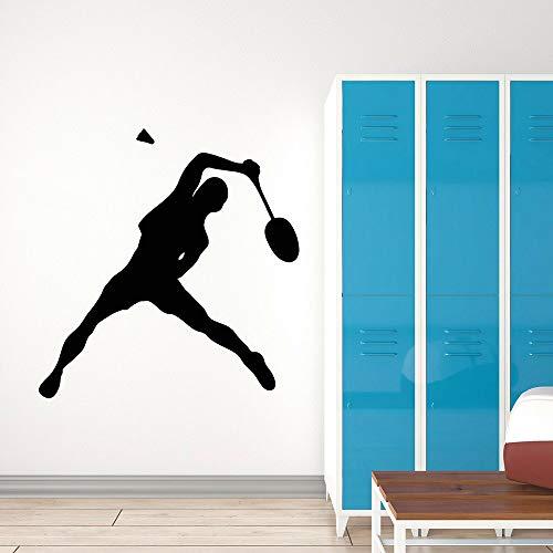 Abkbcw Calcomanía de Pared de Tenis Raqueta Juego de Deportes Pegatina de Pared para habitación Infantil Mural 56x58 CM