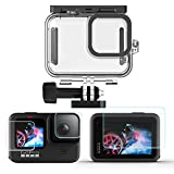 Ytaland <span class='highlight'>Waterproof</span> Case for GoPro Hero 9 Black, with Tempered Glass Screen Protector (Front Back <span class='highlight'>Camera</span> Lens Protectors), Underwater Diving Photography Protective Housing Shell Cover