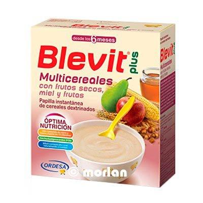 BLEVIT PLUS MULTICEREALES FRUTOS SECOS MIEL Y FRUTAS 600 GRAMOS