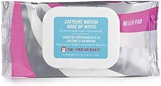 First Aid Beauty Caffeine Matcha Wake Up Wipes, 25 Count