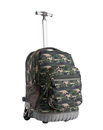 Schulranzen mit Rollen für Mädchen Jungen Kinder,Schultrolley Schultaschen Schulrucksack Trolley Kinderrucksack Klasse.1-12 18 Zoll 20L