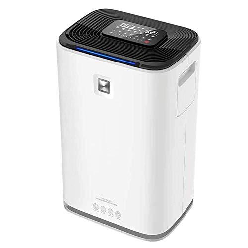 Deshumidificador para el dormitorio del hogar Dormitorio de baños El deshumidificador y el purificador de aire Combo, la pantalla de humedad digital de control táctil inteligente, modo de suspensión,