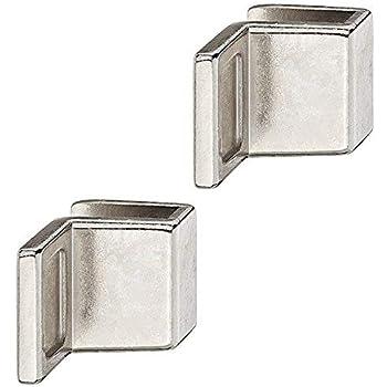 2x GedoTec Manija puerta de vidrio Manijas de muebles para Puertas de cristal Fundición de zinc