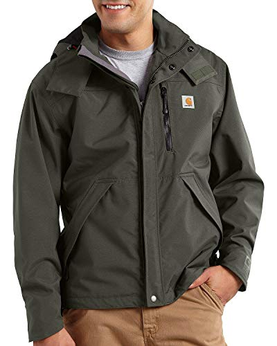Carhartt Men's Shoreline Jacket Waterproof Breathable Nylon,Olive,XX-Large