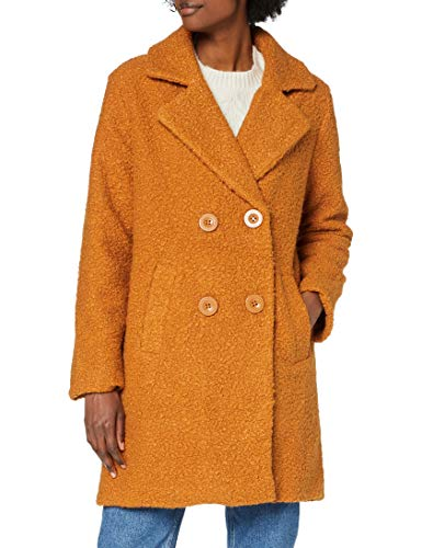 Eight2Nine Damen Wollmischungs-Mantel, Spice Brown, S
