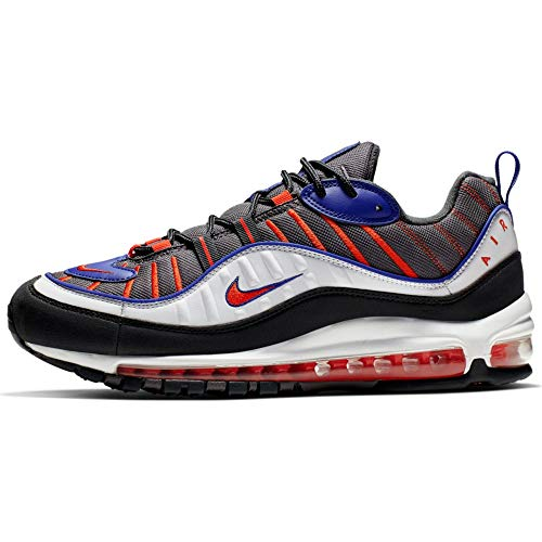 Nike Air MAX 98, Zapatillas de Atletismo para Hombre, Multicolor (Gunsmoke/Team Orange/Laser Orange/White 000), 42 EU