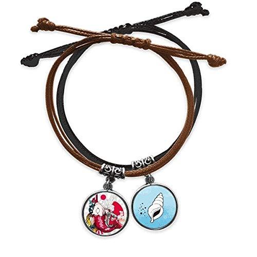 DIYthinker Art Koi Japanisches Schnittmuster Armband Seil Hand Kette Armband Leder Kegel