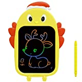 SMEECO LCD Doodle Writing Tablet Colorful Screen Drawing Handwriting Board Educational Learning Sketchpad Toy Best Graffiti Gift for 3 4 5 6 7 8 Years Old Kids Students Boys Girls(Yellow)