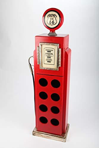 point home Weinschrank, Getränkeregal Zapfsäule, Retro, rot, 118cm