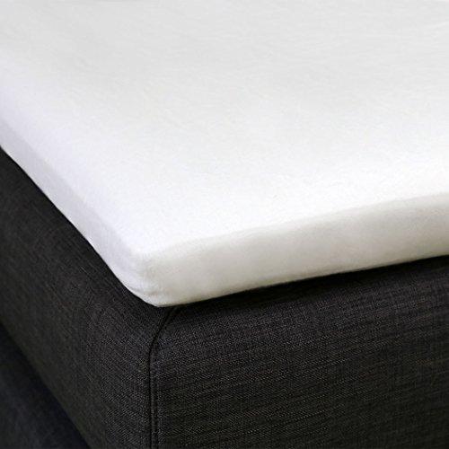 G Bettwarenshop Molton Schonbezug für Matratzen-Topper 140x200 cm, für 4-10 cm Höhe