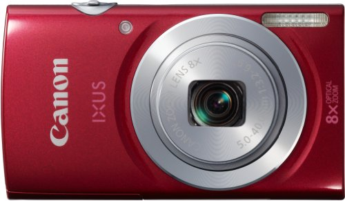 Canon IXUS 145 - Cámara compacta de 16 MP (Pantalla de 2.7', Zoom óptico 8X), Rojo