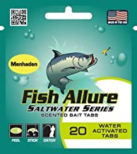 Fish Allure Saltwater Series - Menhaden Scented Bait Tabs for Striped Bass, Bluefish, Redfish, Trout, Yellowjack