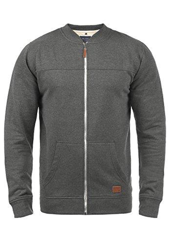 Blend Arco Herren Sweatjacke Collegejacke Cardigan Jacke Mit Kurzem Stehkragen, Größe:L, Farbe:Pewter Mix (70817)