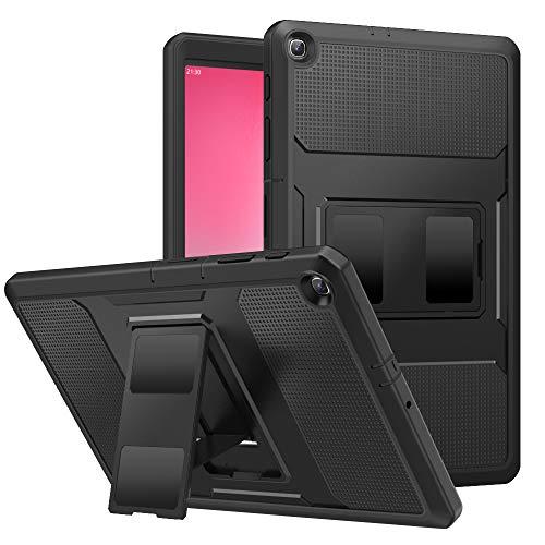 MoKo Hülle für Galaxy Tab S5e SM-T720/SM-T725 2019, [Heavy Duty] Ganzkörper-Rugged Hybrid Stand Cover Schutzhülle mit Integriertem Displayschutz Perfekt für Galaxy Tab S5e SM-T720/SM-T725 - Schwarz