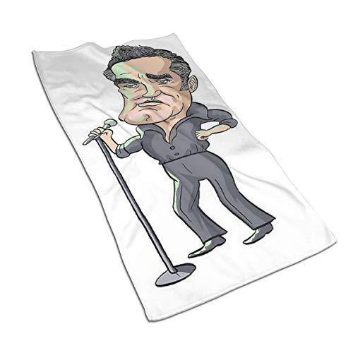 Generieke 27.5 * 15,7 inch Handdoek Man van middelbare leeftijd Zingen met een microfoon Zachte Super Absorberende Fluffy Handdoek Katoen Gepersonaliseerd Vierkant Gezicht Zacht Hotel Bad