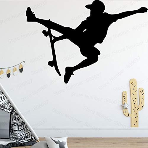 Yaonuli zelfklevende vinyluitgangdecoratie van de creatieve muursticker van de kinderkamer achtergrond kateboardillllverlatiedesign muursticker