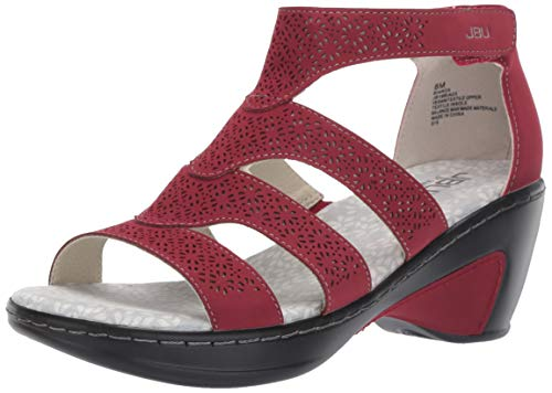 JBU by Jambu Women's Bianca Wedge Sandal, red, 9 M US