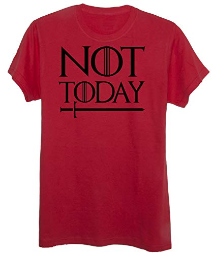 T-Shirt Game of Thrones -Not Today -Trono di Spade - Cult - Uomo-M-Rossa