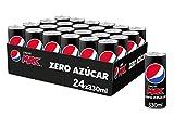 Pepsi MAX, Refresco de Cola Zero Azúcar, lata 330ml x 24