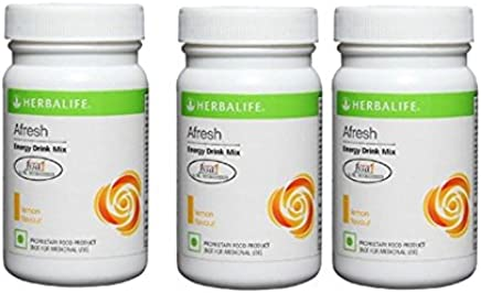 Herbalife Afresh Energy Drink- Lemon 50 gm (Super Saver Pack)- Pack of 3