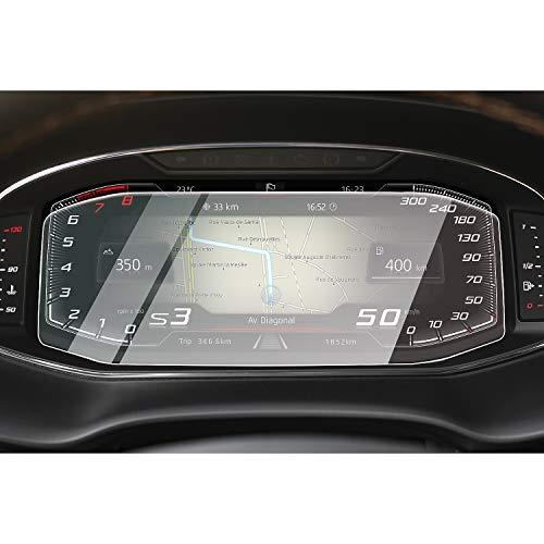CDEFG para Seat Tarraco Leon Arona Ibiza 2020 Protector de Pantalla de Vidrio Templado, HD Auto 9H GPS Navi película protegida Glass (Dashboard)