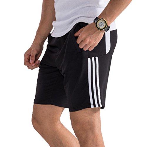 Hombre Pantalón Corto Pantalones Deportivos Fitness Bolsillos Pantalón Corto Deporte Respirable Holgado...