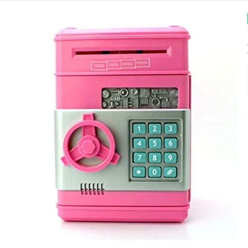Yinuoday Hucha para Niños Banco de Dinero Electrónico Cajero Automático Contraseña Máquina Dinero Moneda Banco de Ahorro Regalos de Cumpleaños Juguete para Niños Niñas