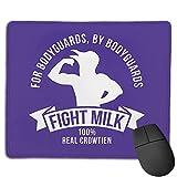 Fight Milk Fight Milk Fight Like A Crow Bodyguard Alfombrilla de ratón Antideslizante para Juegos, computadora de Escritorio