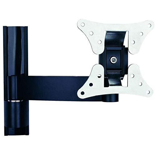 TradeMount Monitor Wandhalterung Alu ausziehbar von 7,3cm bis 24,5cm 12° neigbar 2 x 180° drehbar für Hannspree 23