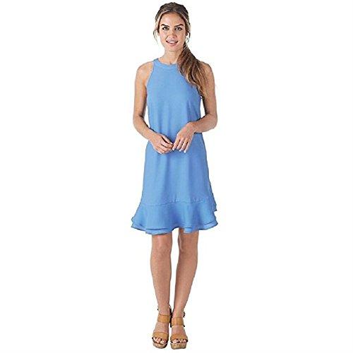 Mud Pie Women's Lindsey Flounce Dress in Periwinkle Blue Apparel (Large) (Apparel)