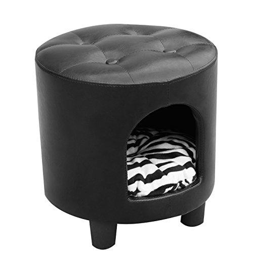 cuccia cane juventus PawHut Cuccia lettino cuscino cane gatto Sgabello multifunzione 2 in 1