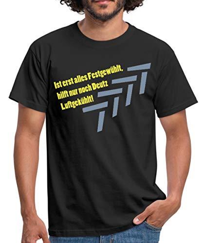 Traktor Landwirtschaft Deutz Luftgekühlt Spruch Männer T-Shirt, XL, Schwarz