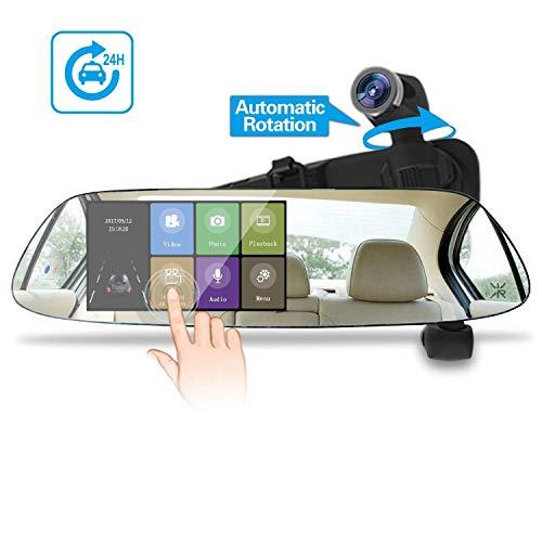 Spedal Tech M5 HD 1080P - Cámara de salpicadero de coche con pantalla táctil de 5 pulgadas, cámara de salpicadero con sensor de radar de microondas, sensor de visión nocturna, detección de movimiento, grabación en bucle, color negro