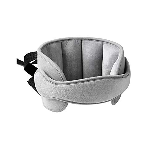 GOHIGH Child Head Support for Car Seats, Adjustable Comfortable Sleeping Headrest, Safety Carseat Neck Pillow Support Solution, Travel Accessories for Kids Children Toddler Infant and Adults, Gray