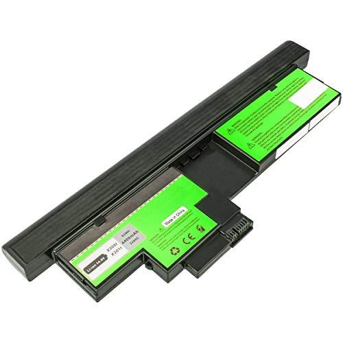 Akku kompatibel mit IBM Lenovo Thinkpad X200 Tablet-PC, X201 Tablet-PC - ersetzt 43R9256, 43R9257, 42T4564 - Li-Ion (8 Zellen) 4400mAh 14.4V - schwarz