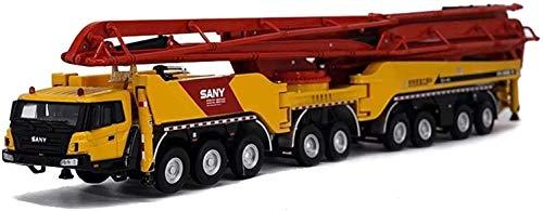 WANGCH 1:50 Coche de juguete de metal de fundición a presión Bomba de ingeniería de aleación Modelo de camión Bomba de hormigón de aleación Modelo de camión de ingeniería de simulación Niño niña Colec