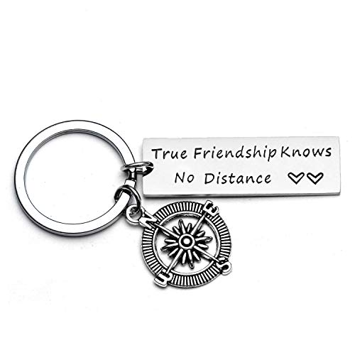 Friends Leaving Gifts Going Away Keychain Long Distance Friendship Best Friend Gift Goodbye Gift Farewell Gift for Friend (Style - True Friendship)