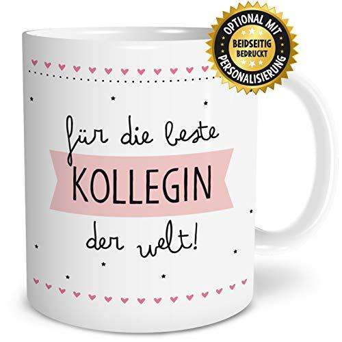 OWLBOOK Beste Kollegin Große Kaffee-Tasse mit Spruch im Geschenkkarton Geschenke Geschenkidee Kollegin Geburtstag Ostern