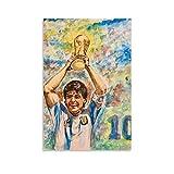 Ghychk Legends Diego Maradona - Póster decorativo para pared, diseño de la mano de Dios, para dormitorio, cocina, decoración del hogar, listo para colgar, 60 x 90 cm