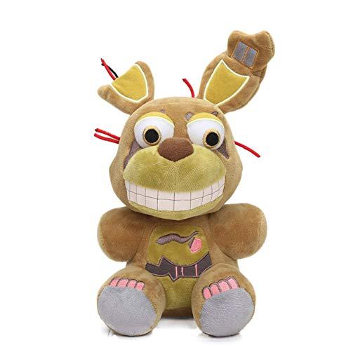 WPQL Pesadilla Freddy Bear, Five Nights at Freddy'S Toy, Terror Plush Toy, Game Plush Doll Cartoon, Animal Stuffed Dolls, 25cm