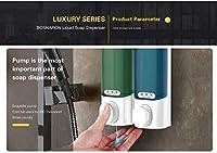 2個 キッチン液体ハンドソープディスペンサー壁掛けABSプラスチックディスペンサーシャンプーボディウォッシュ洗剤ホームバスルームアクセサリー