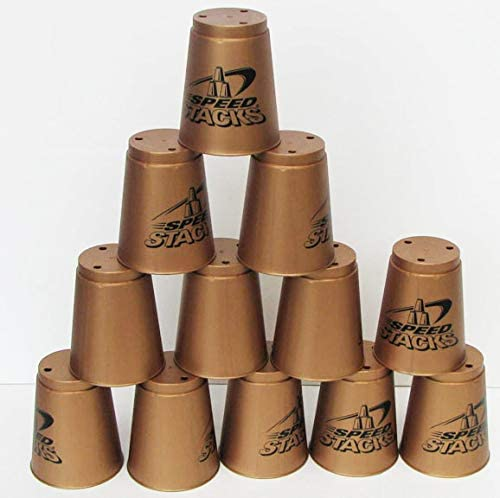 Set of 12 GOLD Speed Stacks with Case Super intense SALE Be super welcome Carry Cups